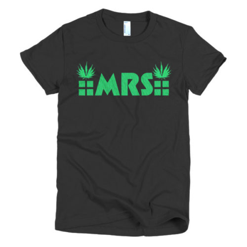 MRS Cannabis Ladies' tee black/white